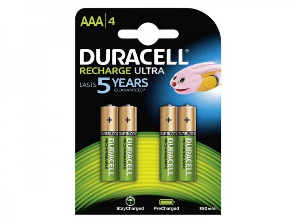 Akku Duracell AAA Micro 850mAh (4 St.)