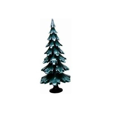 Tannenbaum grün weiss aus Holz 19cm