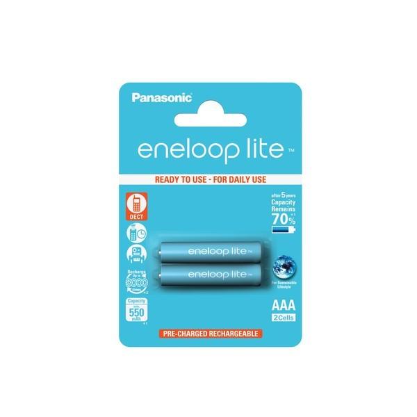 Panasonic eneloop lite Akku AAA - 2er-Blister (BK-4LCCE/2BE)