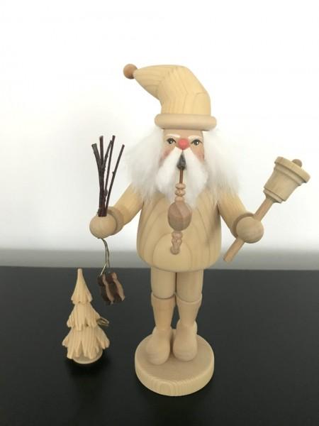 Räuchermann Weihnachtsmann holz natur 22cm
