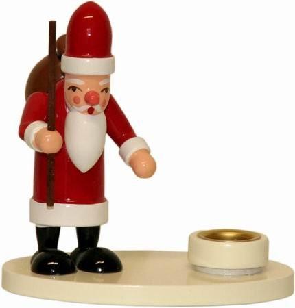 Erzgebirge Lichthalter Weihnachtsmann 8 cm