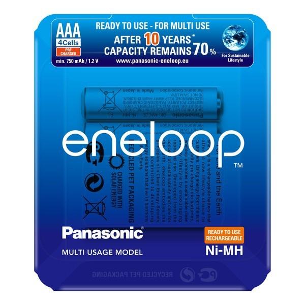 Panasonic eneloop Akku AAA - eneloop storage case - 4 Stück (BK-4MCCE/4LE)