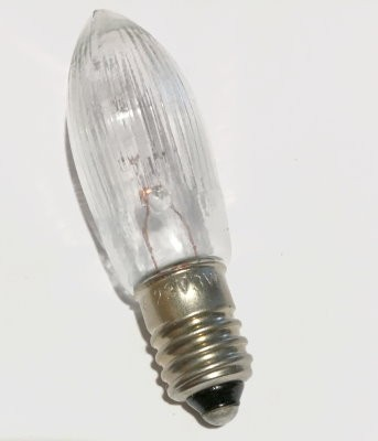Glühlampe Schaftkerze 3W / 23V E10 Warmweiß