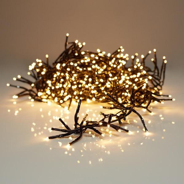 Aussen Weihnachts LED CLUSTERLICHTERKETTE 1152 LED Warmweiss 11.4 m