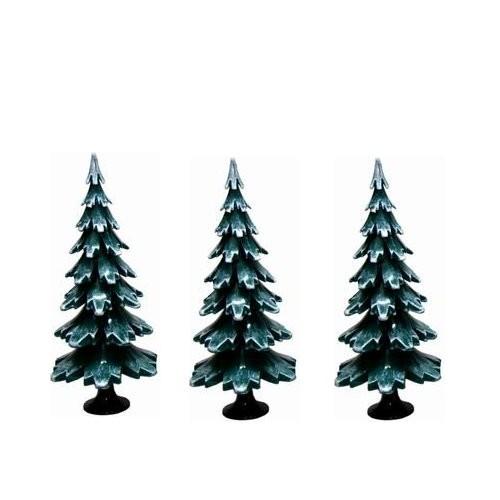Tannenbaum grün weiss aus Holz 6,5cm ( 3 Stück)