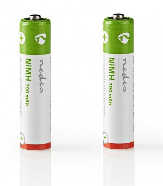 Ni-MH-Akku AAA | 1,2 V | 700 mAh | 2 Stück | Blister
