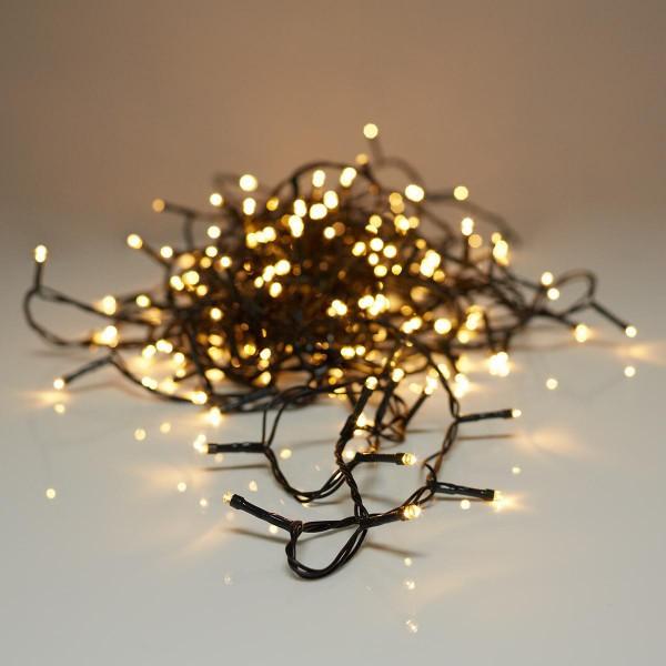 Aussen LED Lichterkette 29m Lauflicht 240 LED's Warmweiss - Fernbedienung